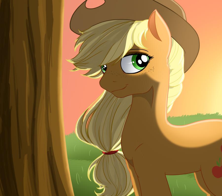 Applejack Portrait by U1fric