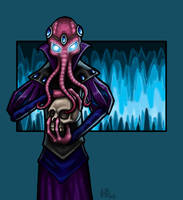 Cavern Illithid. by majicxiii