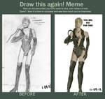 Draw this again meme - Fiona Belli