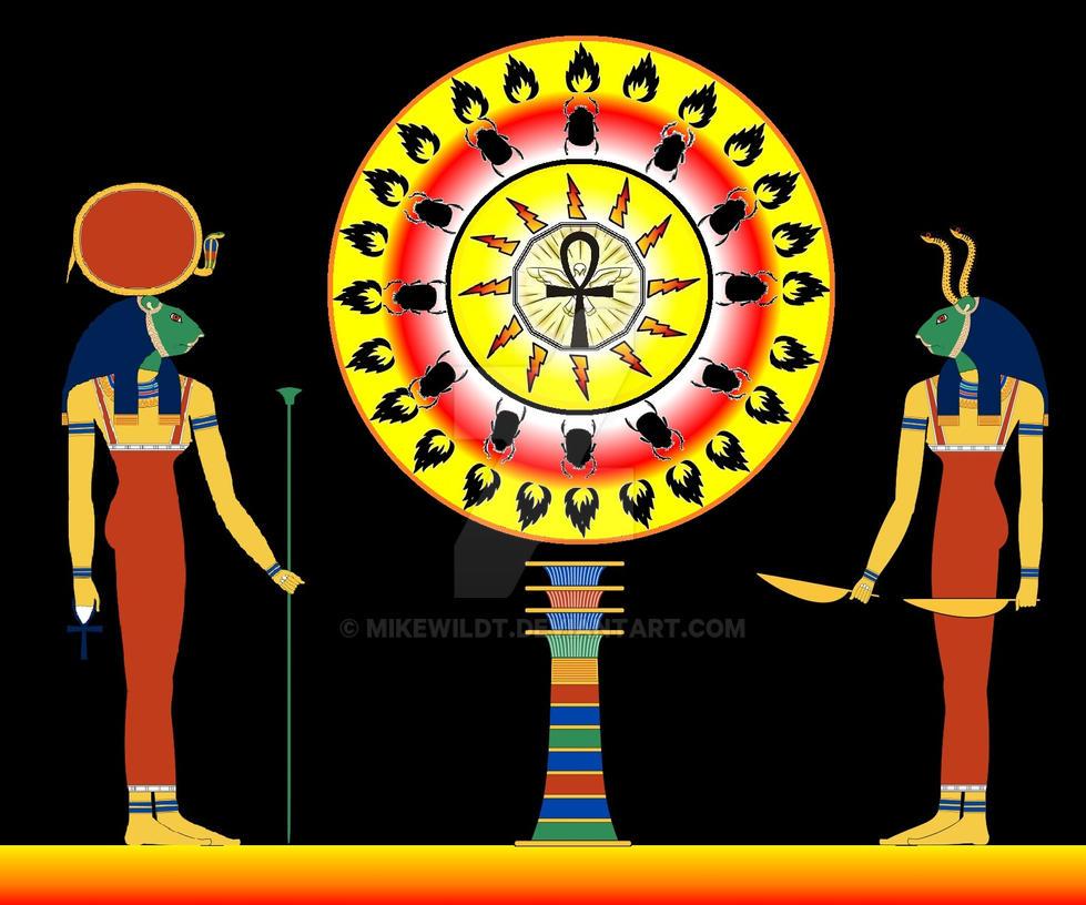 Ancient Egypt sun Goddess Sekhmet and Bastet Part2 by Mikewildt
