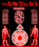 Uranus and the sun of Chaos Prinable by Mikewildt