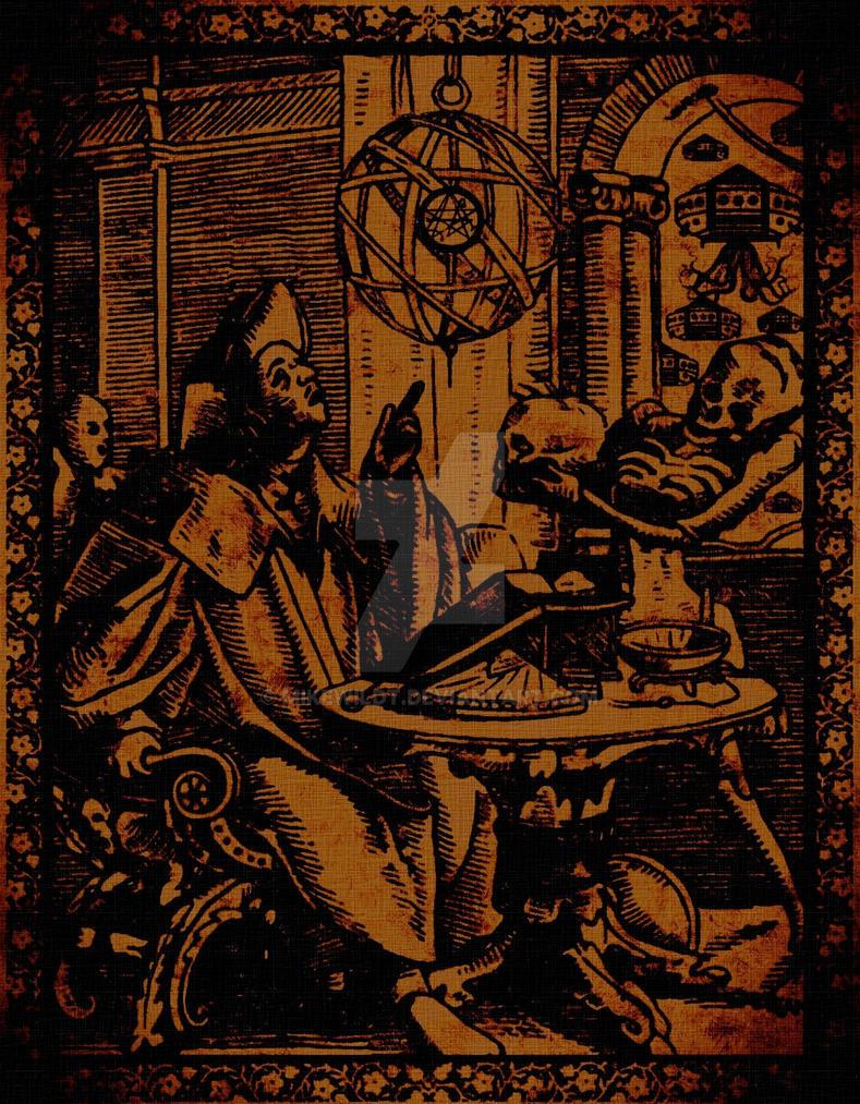 lost pergament renaissance cthulhu necronomicon by Mikewildt