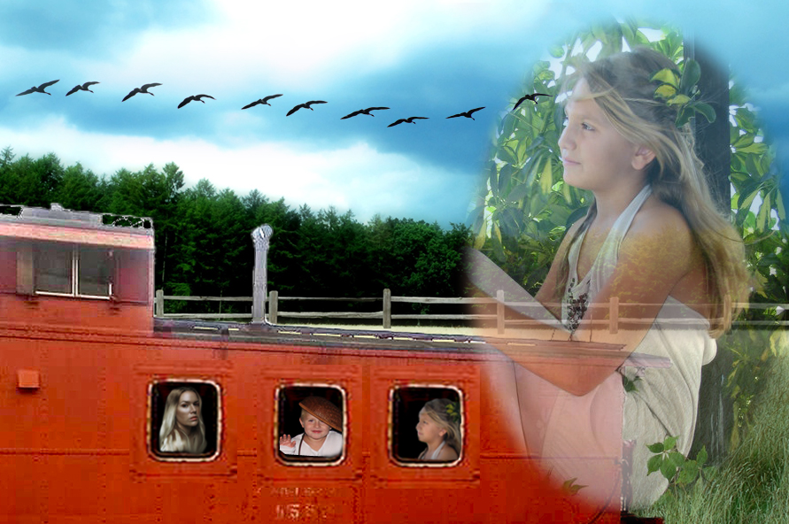 Memories: Train Ride with My Mom and Brother by 3punkins