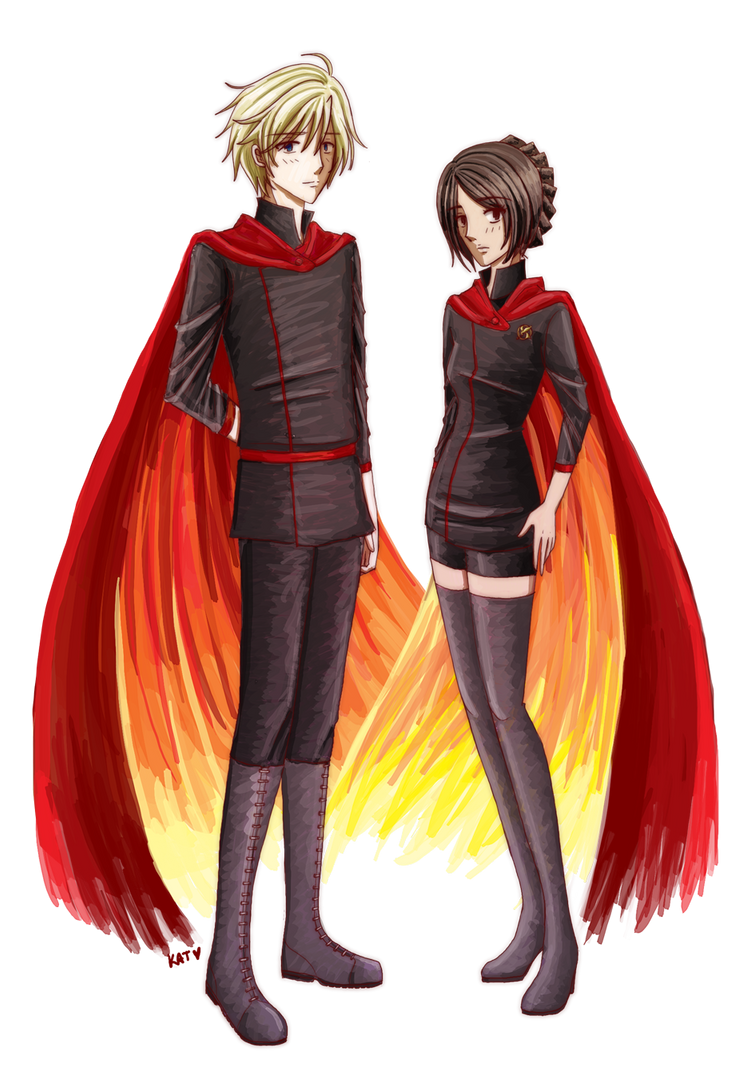 Hunger Games: The Tributes on Fire by fortykoubuns on ...
