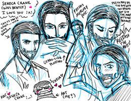 Hunger Games: Seneca Crane is Fine Sketch Dump by fortykoubuns