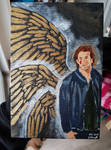 Gabriel with golden wings (Supernatural) by GabyTheArchangel