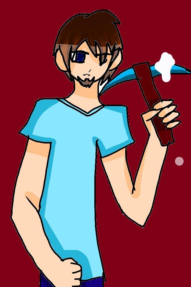 Steve, the miner by AlyssumPetal