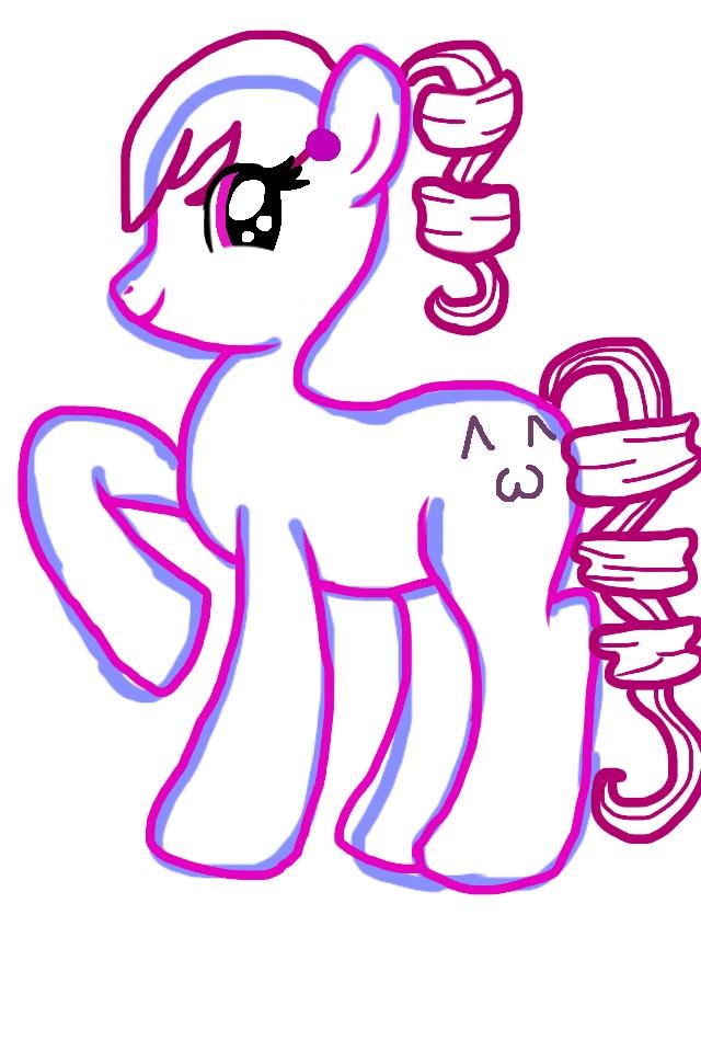 Kasane teto pony uncoloured by AlyssumPetal