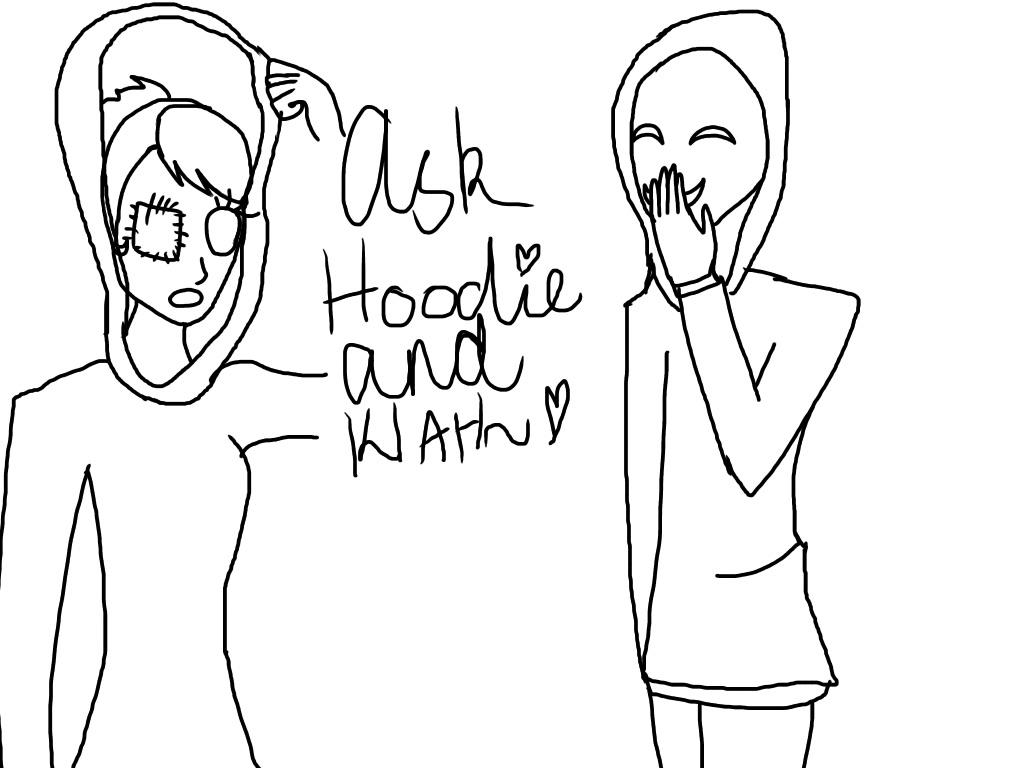 Ask hoodie and KIAH by AlyssumPetal