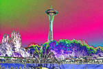 Psychedelic Space Needle 1