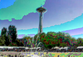 Enamel Space Needle by infin8yquest