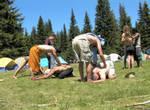 Rainbow Yoga Circle