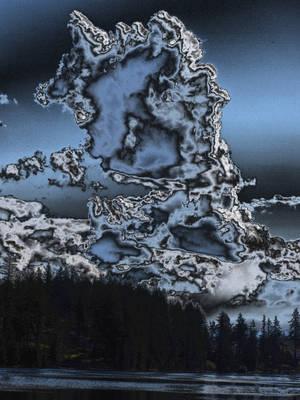 Lake Wilderness Clouds - Dark Blue