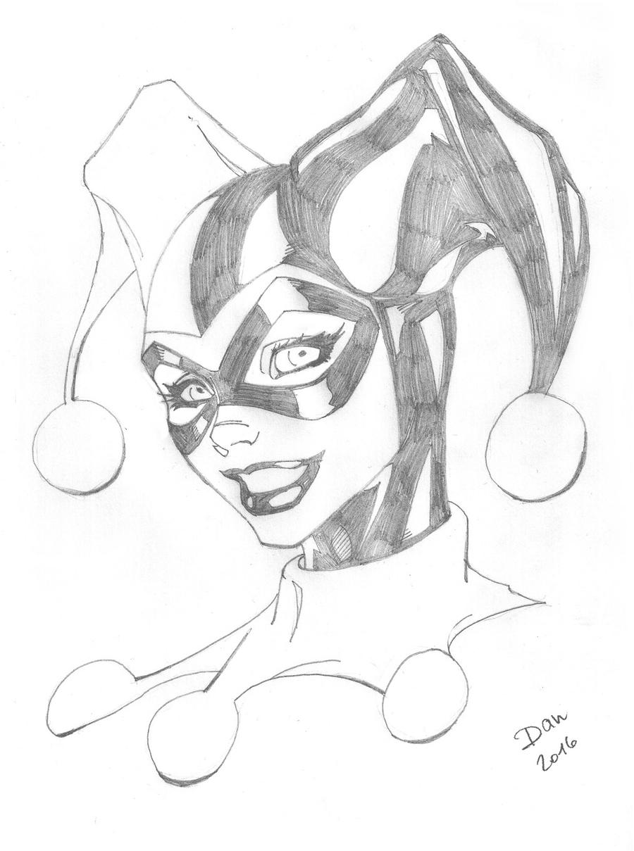 Harley quinn pencils by docflint on deviantart