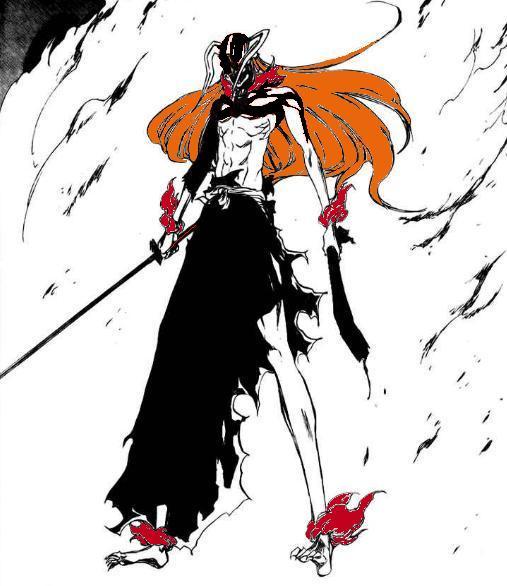 Hollow Ichigo(Final Form) vs. 9-Tails Naruto (First Form ...