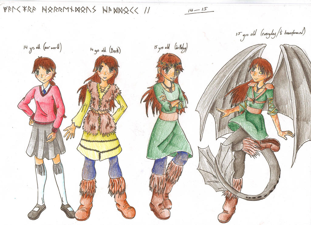 HTTYD OC character designs (aged 14-15) by RoseThornArt on DeviantArt