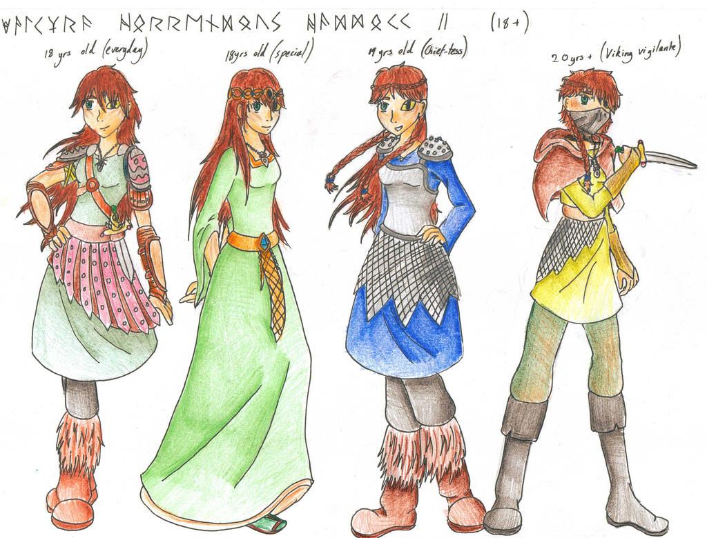 Character Design Oc : Httyd oc character designs aged by cessierose on