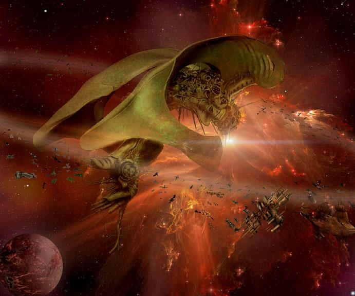 Organic Spaceship by HiveMedia