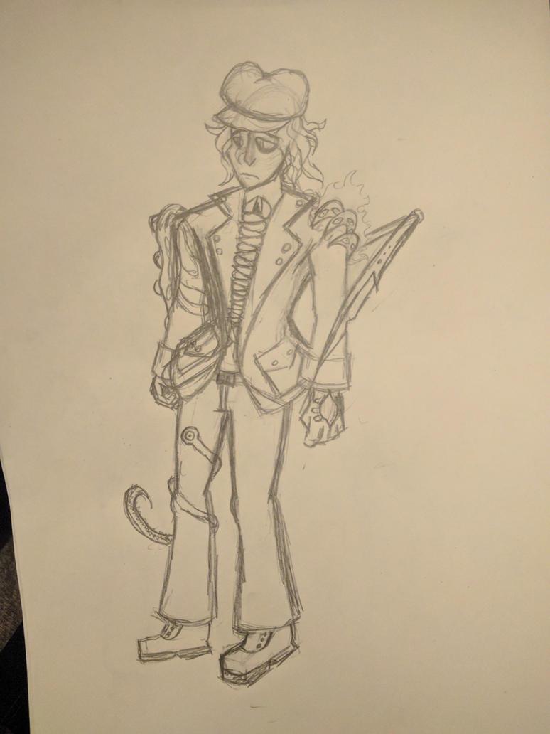 Skullgirls OC: Blaine (Sketch/Concept) by OrionsDagger
