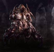 nightmare creature 01 by granttheartist