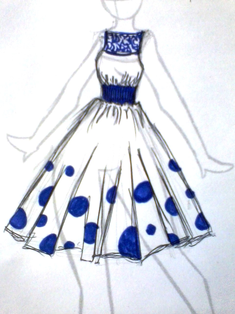 Cute dress designs drawings