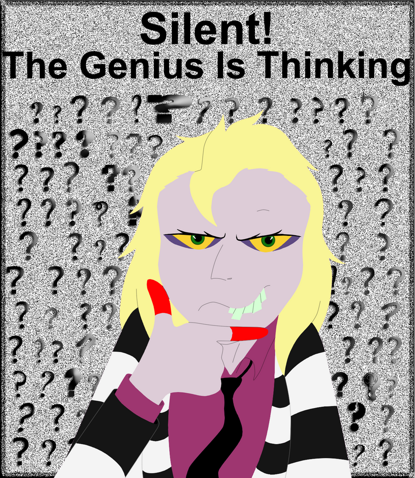 Silent. the genius is thinking by FableworldNA