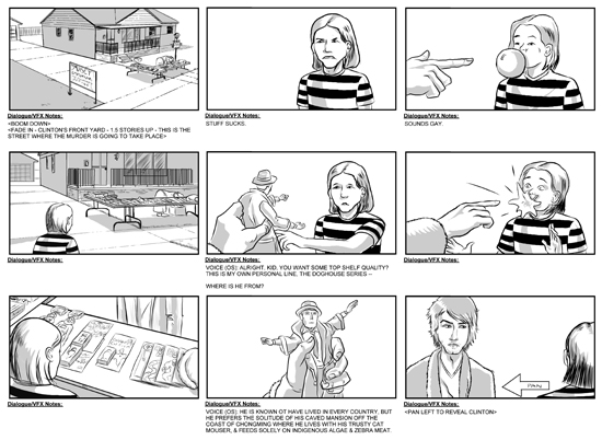 Feature Film Storyboards By Erikrose On Deviantart