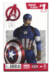Captain America Age of UItron blank cover by kris-knave