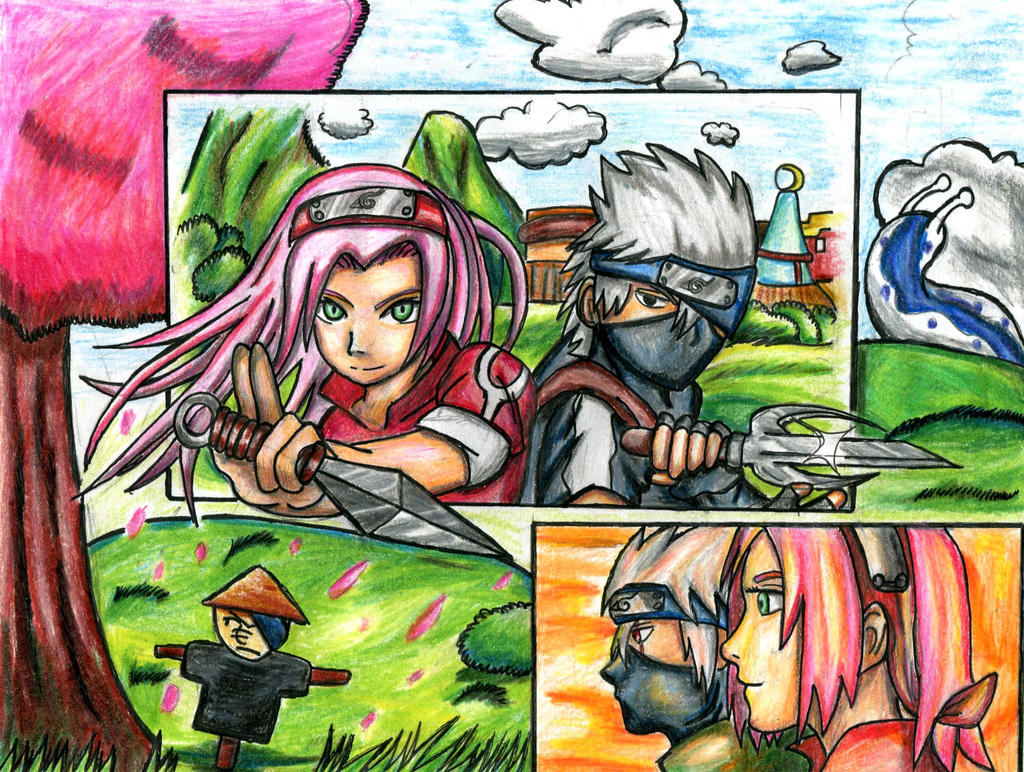 Sakura and kakashi by Gamilightninja