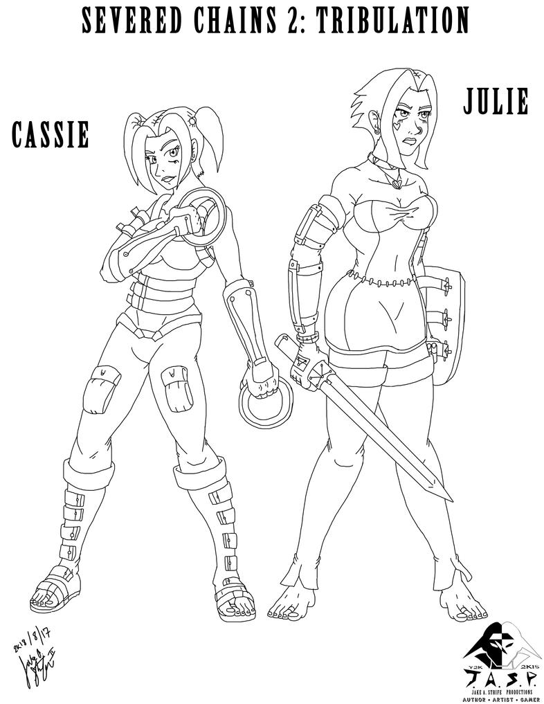 Group - 2K18-08-17 - Julie  Cassie (SC2) Linework by JakeAStrife