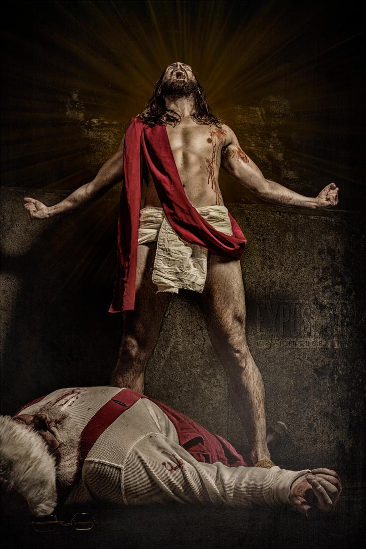 santa vs jesus 3 by exposemephotography - Santa And Jesus