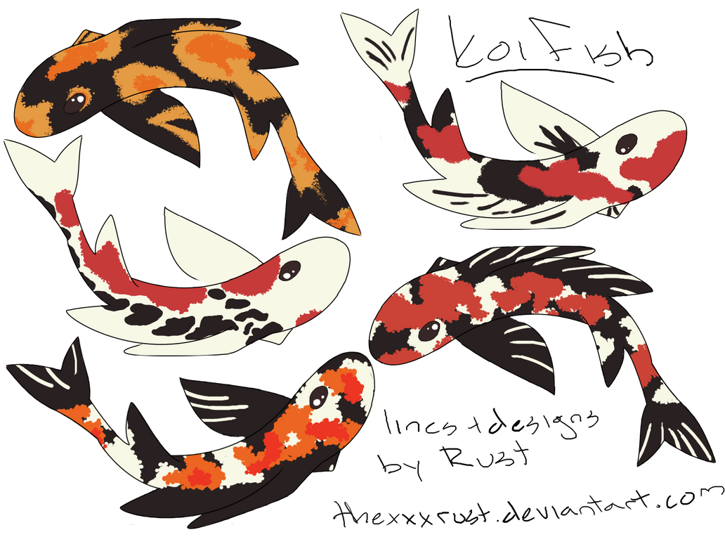 Koi fish OR Dragon adoptables by thexxxrust