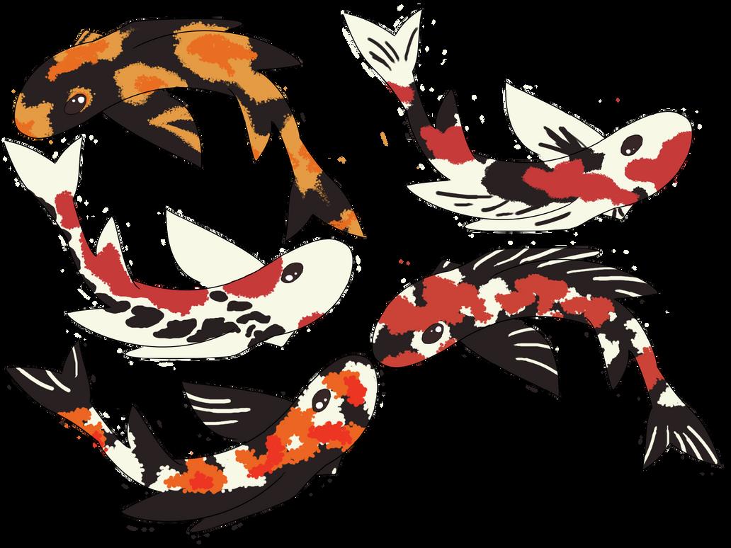 Koi fish OR Dragon adoptables by thexxxrust