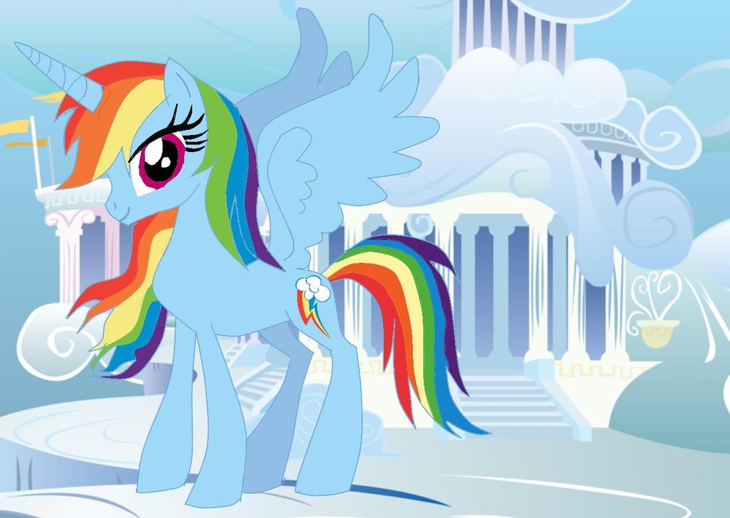 Rainbow Dash as an Alicorn by AlicornRarityMlp Alicorn Rainbow Dash