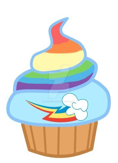 rainbow dash cake template - rainbow dash cupcake by alicornrarity on deviantart