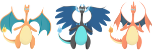 Gotta Draw 'Em All- #006- (Mega) Charizard by AbbyTLaRue