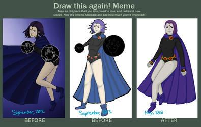 Draw This Again- Raven Again by AbbyTLaRue