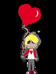 Dave with ballon Sticker by KitsunePhantasm