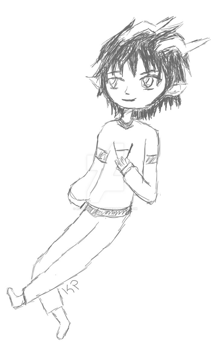 Gazlee Eamken Sketch by KitsunePhantasm