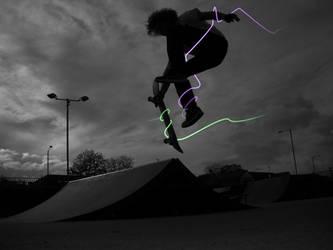 Glowline Skater by ThomasG-Art