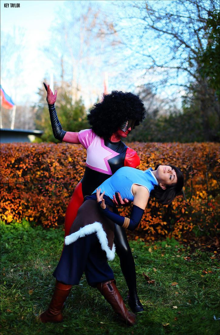 SU vs ALoK! Garnet and Korra by MayWolf23