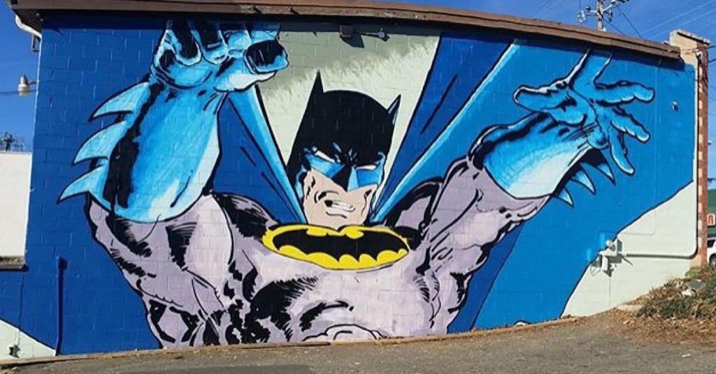 Batman mural after frank miller by dustinspagnola on for Batman mural wallpaper