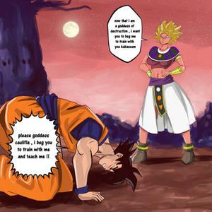 Commission: Caulifla dominates Goku