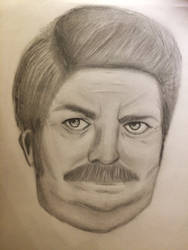 Ron Swanson  by Onskux
