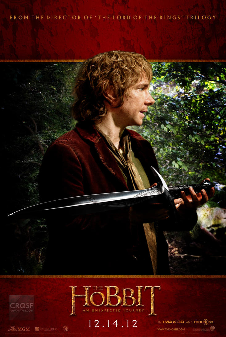The Hobbit Bilbo fan poster by crqsf