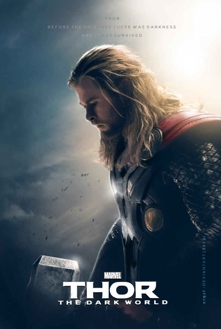 thor the dark world fan thor postercrqsf on deviantart