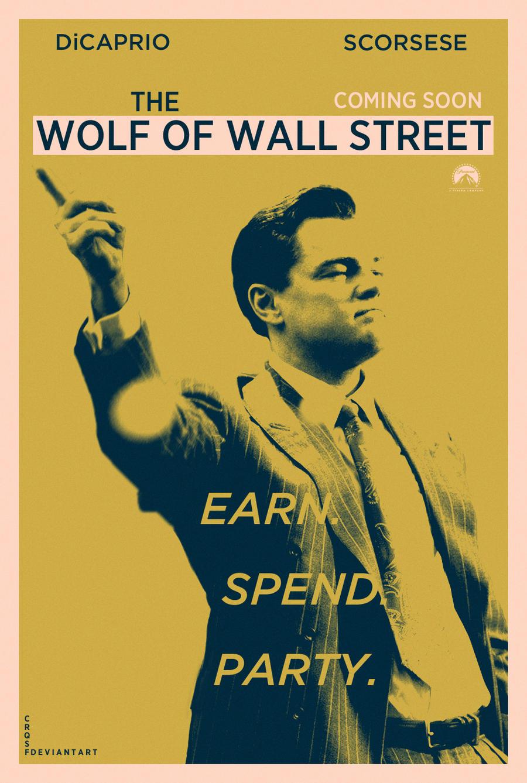 Wolf of Wall Street fan poster
