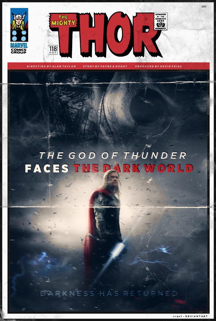 Thor The Dark World fan poster (comicbook style) by crqsf