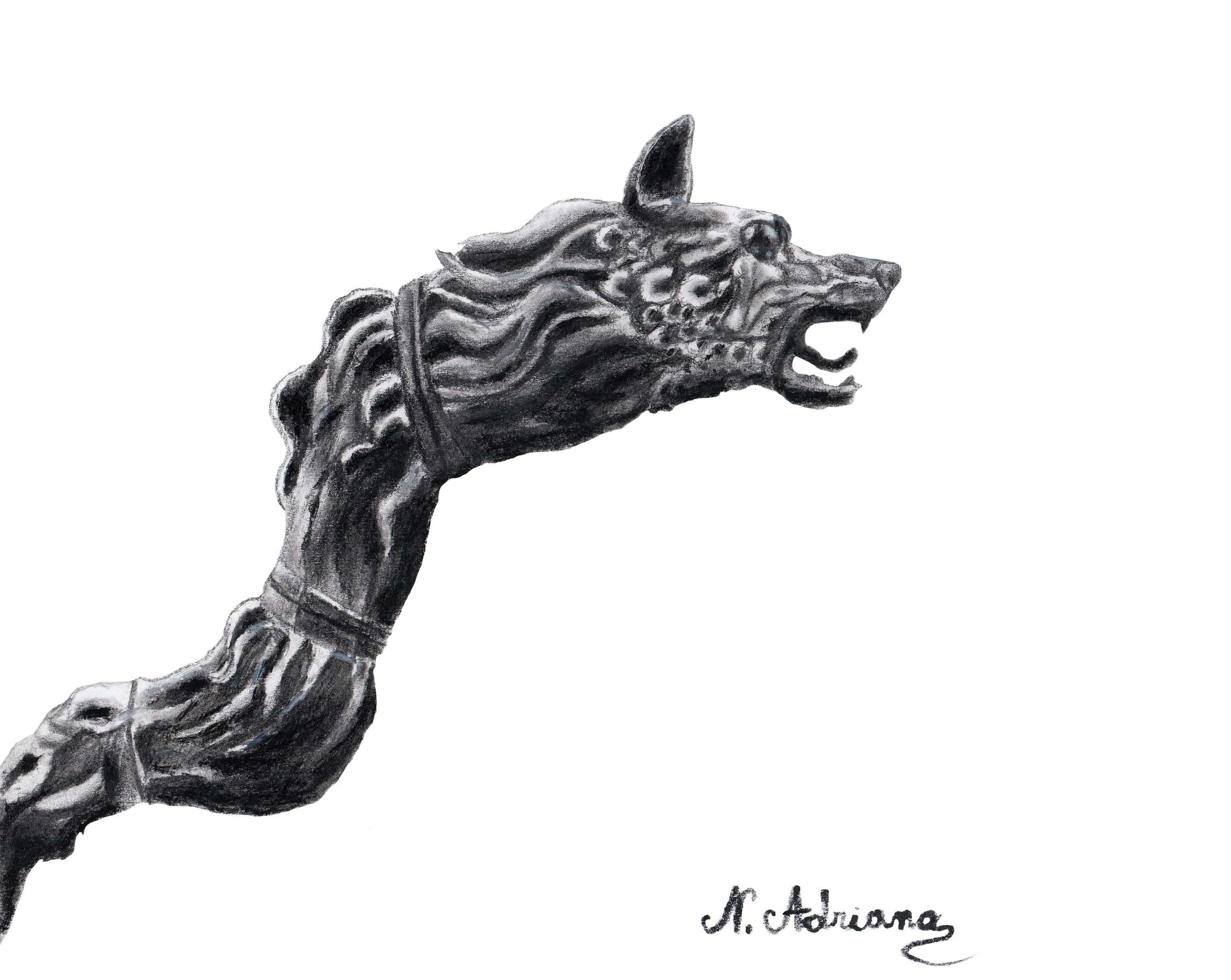 Dacian wolf by Tenkasi...