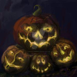 4 Pumpkin Friends by MindPictureBody